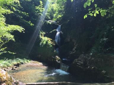 Mini waterfall on the way to the santuarium